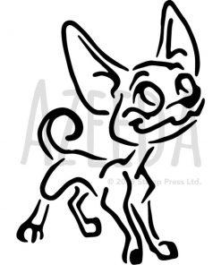 Azeeda A3 Chihuahua Dog Wall Stencil Template (WS00007957)