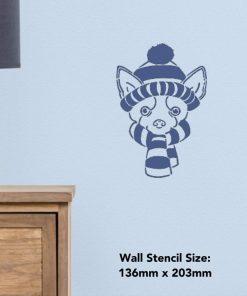 Azeeda A5 Winter Chihuahua Wall Stencil Template (WS00003836) 2