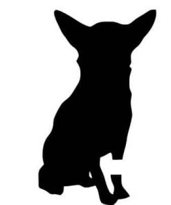Pack of 3 Chihuahua Style 1 Stencils, 11x14, 8x10 and 5x7 Made from 4 Ply Matboard