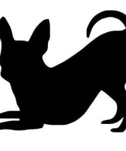 Pack of 3 Chihuahua Style 3 Stencils, 11x14, 8x10 and 5x7 Made from 4 Ply Matboard