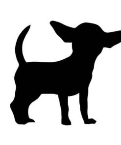 Pack of 3 Chihuahua Style 4 Stencils, 11x14, 8x10 and 5x7 Made from 4 Ply Matboard