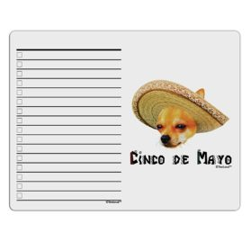 TooLoud Chihuahua Dog with Sombrero - Cinco de Mayo To Do Shopping List Dry Erase Board