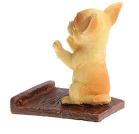 Baoblaze Cute Resin Cell Phone Stand Holder Chihuahua dog Puppy Pads Tablet Bracket Toy Animal Pet Model Statue Home Ornament Decor Xmas Gift 2
