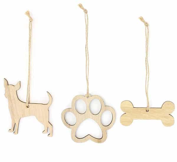 Chihuahua Christmas Ornament Dog Lover Gifts Wooden Christmas Ornaments 3-Piece Bundle