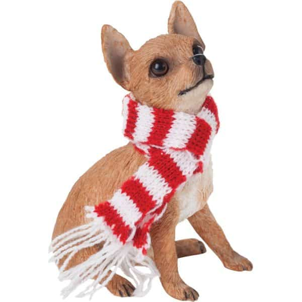 Chihuahua Tan Christmas Holiday Ornament