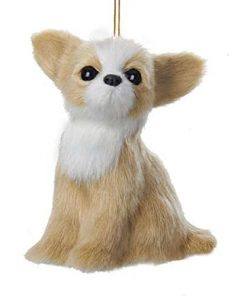 "Kurt Adler 4"" Plush Chihuahua Ornament"