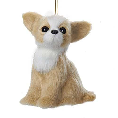 "Kurt Adler 4"" Plush Chihuahua Ornament"