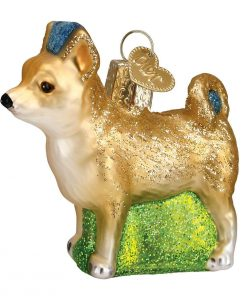 Old World Christmas Glass Blown Ornament with S-Hook and Gift Box, Dog Collection (Chihuahua)