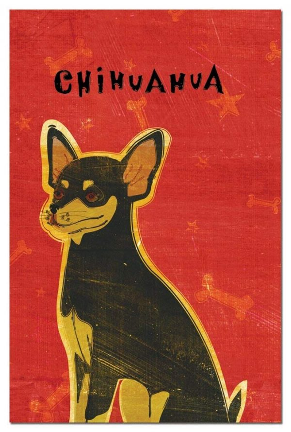 Tree-Free Greetings Eco-Notes Notecard Set, 4 x 6 Inches, 12-count Notecards with Envelopes, Black and Tan Chihuahua (65052)