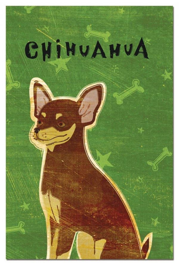 Tree-Free Greetings Eco-Notes Notecard Set, 4 x 6 Inches, 12-count Notecards with Envelopes, Chocolate and Tan Chihuahua (64981)