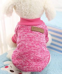 Zehui Winter Soft Cat Jacket Coat Hoodies for XS-XXL Chihuahua Yorkie Dogs Dog Classic Sweaters Pet Puppy Warm Clothes