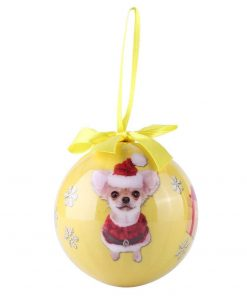 Animal Friends Christmas Holiday Tree Ornament Shatter Proof Ball with Box (Chihuahua) 4