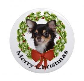 CafePress Chihuahua #2 Ornament Round Holiday Christmas Ornament