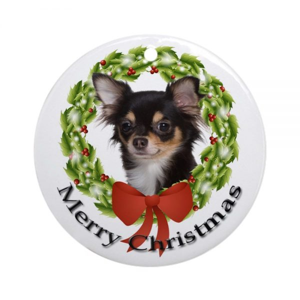 CafePress Chihuahua #2 Ornament Round Holiday Christmas Ornament