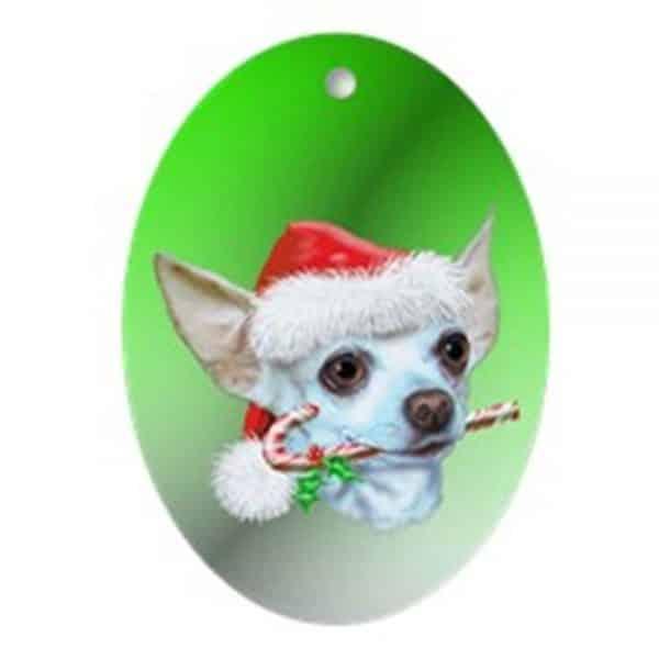 CafePress Chihuahua Christmas Oval Ornament Oval Holiday Christmas Ornament