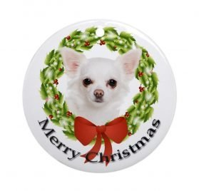 CafePress Chihuahua Ornament Round Holiday Christmas Ornament (#3)