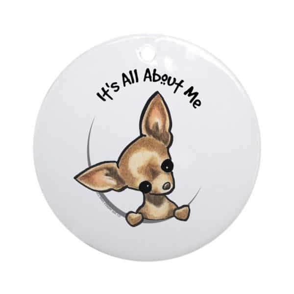 CafePress Tan Chihuahua IAAM Ornament (Round) Round Holiday Christmas Ornament