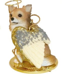 Chihuahua Angel Dog Ornament - Longhair