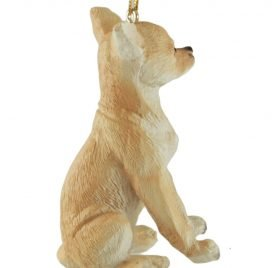 Chihuahua Blond Dog Hanging Christmas Ornament 2