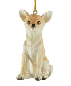 Chihuahua Blond Dog Hanging Christmas Ornament