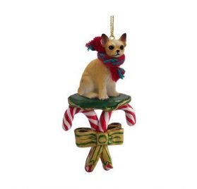 Chihuahua Candy Cane Christmas Ornament