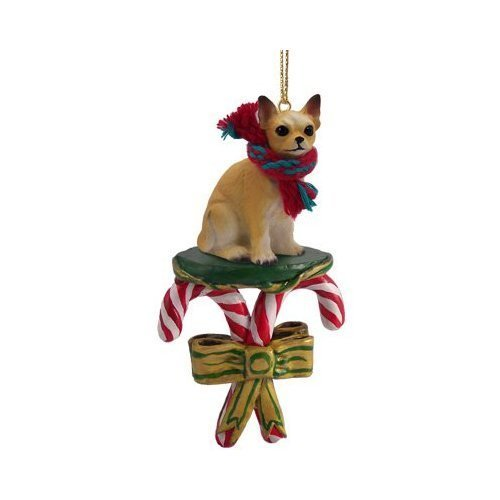 Chihuahua Candy Cane Christmas Ornament
