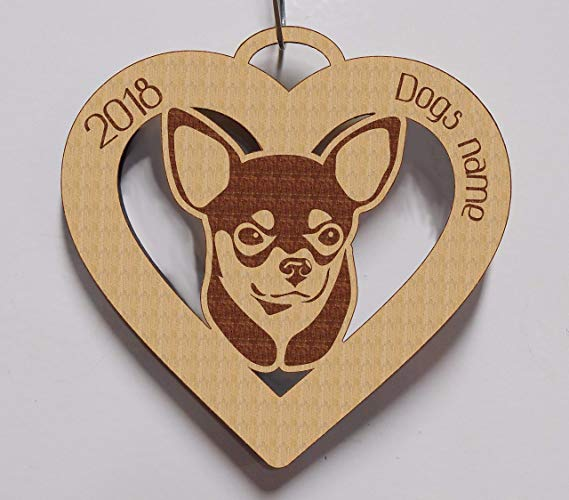 Chihuahua, Chihuahua Ornament, Chihuahua Gift, Personalized Chihuahua Ornament, Chihuahua Pet Gift, Dog Gift, Dog Ornament 2