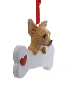 Chihuahua Dog Christmas Ornament, Free Personalization 2