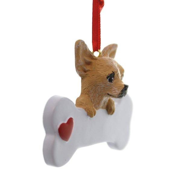 Chihuahua Dog Christmas Ornament, Free Personalization 2