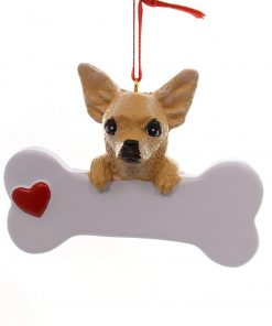 Chihuahua Dog Christmas Ornament, Free Personalization
