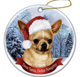 "Chihuahua, Fawn Christmas Ornament 3"" Porcelain Gift-Boxed with Tree Hook and Magnet Pet Holiday Decoration Bundle by Imprints Plus (HO 070) 2"