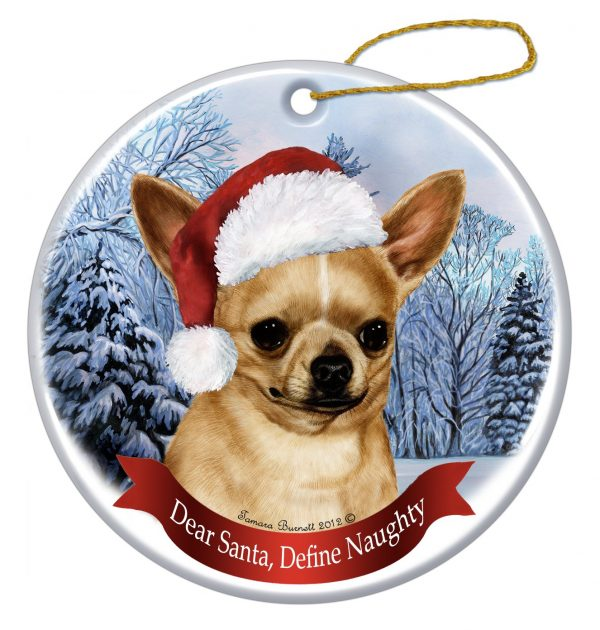 """Chihuahua, Fawn Christmas Ornament 3"""" Porcelain Gift-Boxed with Tree Hook and Magnet Pet Holiday Decoration Bundle by Imprints Plus (HO 070) 2"""