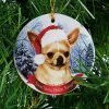 "Chihuahua, Fawn Christmas Ornament 3"" Porcelain Gift-Boxed with Tree Hook and Magnet Pet Holiday Decoration Bundle by Imprints Plus (HO 070) 3"