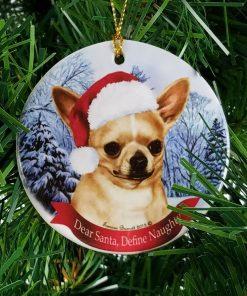 Chihuahua, Fawn Christmas Ornament 3