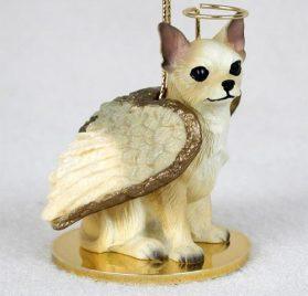 Chihuahua Tan & White Pet Angel Ornament