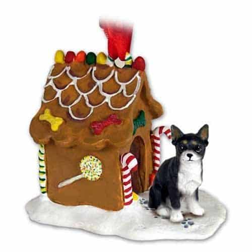 Conversation Concepts Chihuahua Gingerbread House Christmas Ornament Black-White