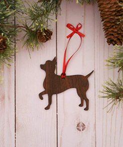 Customizable Chihuahua Christmas Tree Ornament