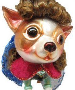 December Diamonds Blown Glass Ornament - Princess Anna Chihuahua