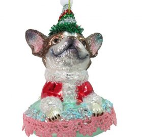 December Diamonds Glass Ornament - Chihuahua on Bed