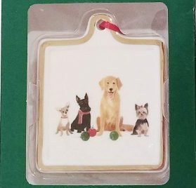 Fringe Christmas Holiday Dogs Ceramic Ornament (Chihuahua, Schnauzer, Golden Retriever, Yorkie)