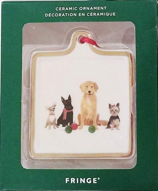 Fringe Christmas Holiday Dogs Ceramic Ornament (Chihuahua, Schnauzer, Golden Retriever, Yorkie)