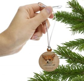 GRAPHICS & MORE Chihuahua Dog Breed Mini Small Tiny Wood Christmas Tree Holiday Ornament 2