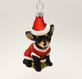 Hanco Design Christmas Tree Decoration - Chihuahua Black (2419.03) 1 Piece Christmas Decoration Tree Decoration Christmas Hanger 2