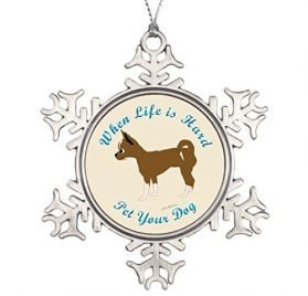 Jared Best Friend Snowflake Ornaments When Life is Hard Chihuahua Pictures of Christmas Snowflake Ornaments Christmas Decorations