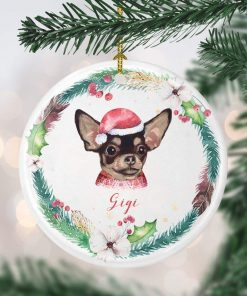 Littledollz Chihuahua Christmas Ornament Custom Dog Christmas Ornament Personalized Dog Ornament Puppy Ornament Dog's 1st Christmas Dog mom Gift