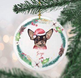 Littledollz Chihuahua Christmas Ornament Custom Dog Christmas Ornament Personalized Dog Ornament Puppy Ornament Dog's 1st Christmas Dog mom Gift