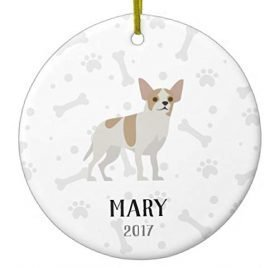 Littledollz Chihuahua Personalized Christmas Xmas Trees Home Decorated Ceramic Ornaments Porcelain Ornament Personalize Souvenir