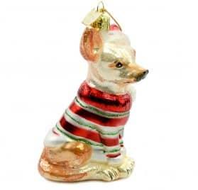 Noble Gems Kurt Adler 3-1 2-Inch Glass Chihuahua Ornament