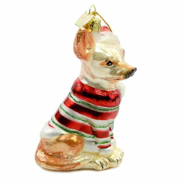 Noble Gems Kurt Adler 3-1 2-Inch Glass Chihuahua Ornament