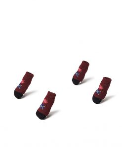 Nothing But Love Pets Toy Small Dog Non Slip 2 sock packs (8 pcs) For Yorkie Pom Maltese Chihuahua (Very Small Size, maroon, dark brown, argyle) 5